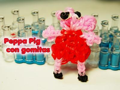 Peppa pig con gomitas. Peppa Pig Rainbow Loom