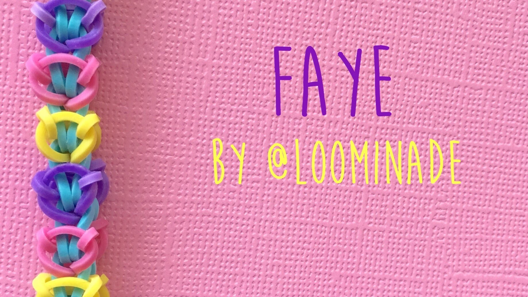 Rainbow Loom Bands Faye by @Loominade tutorial