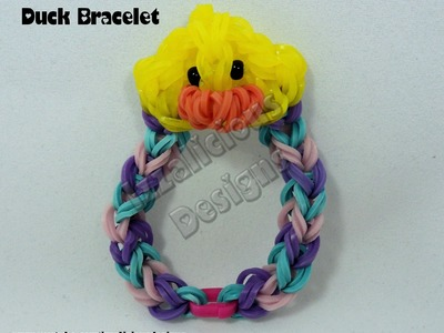 Rainbow Loom Duck Charm Bracelet