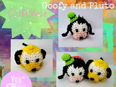 Rainbow Loom Loomigurumi Goofy or Pluto (Inspired by TSUM TSUM)
