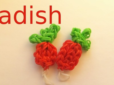 Rainbow Loom Radish Charm | Loom Bands How To Tutorial