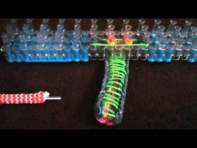 Rainbow loom sailors pinstripe on 1 loom!