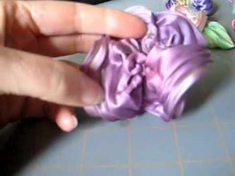 Shibori no hana-silk shibori ribbon flower