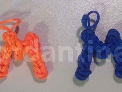 Skinny Letter M Alphabet Charm - Rainbow Loom, Crazy Loom