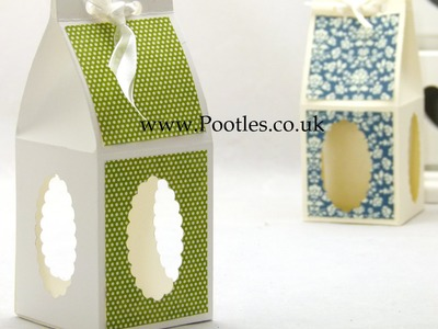 Stampin Up UK Treat Gift Candle Box with Windows