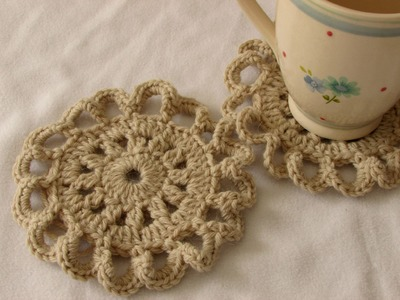 VERY EASY pretty crochet coaster tutorial