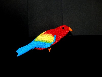 3D Origami Parrot (macaw)  tutorial (instructions) part1