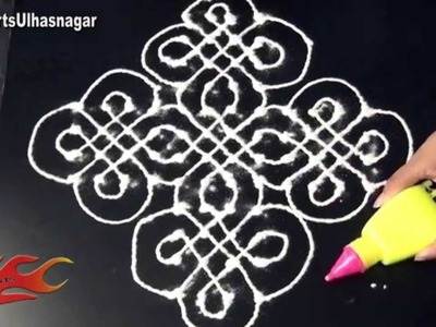 Basic Dot Rangoli Design With Rangoli Pen for beginners - JK Arts 543