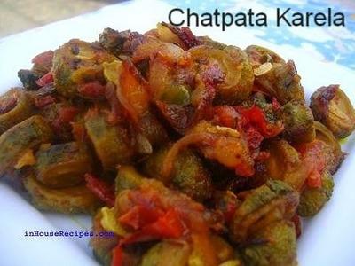 Chatpata Karela www.inHouseRecipes.com