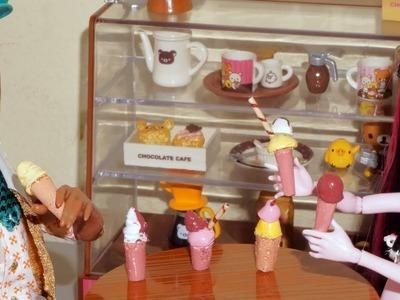 Como fazer sorvete (de cola quente) para boneca Monster High, Barbie, etc