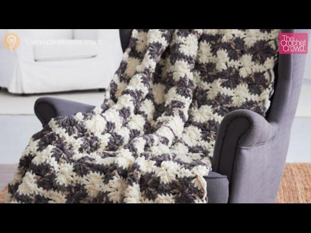 Crochet Bernat Blanket Big Wheel Afghan Tutorial