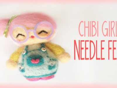 Cute Chibi Girl Needle Felt Tutorial