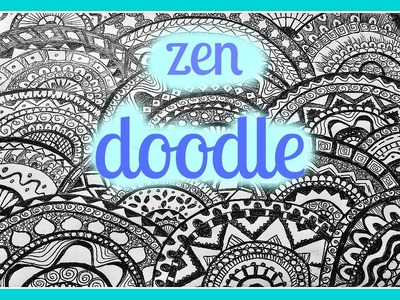 Diy: doodle ✽ zentangle