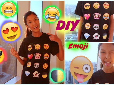 DIY Emoji T-Shirt. Costume !