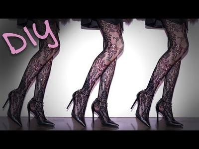 DIY Fashion | Sparkly Sequin Tights | Designer DIY