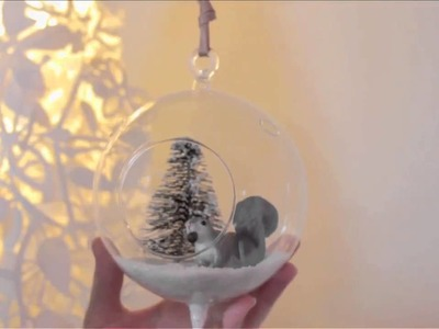 DIY Floating Winter Terrariums