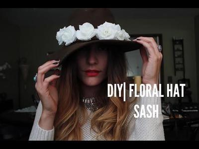 DIY| Floral Hat Sash