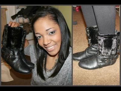 DIY♡Fur Boots