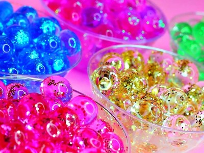DIY Glitter Orbeez | How To Make Glitter Water Marbles | DIY Crystal Magic Growing Water Toys