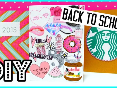 DIY NOTEBOOKS for back to school! DIY supplies: Starbucks, Tumblr & more!