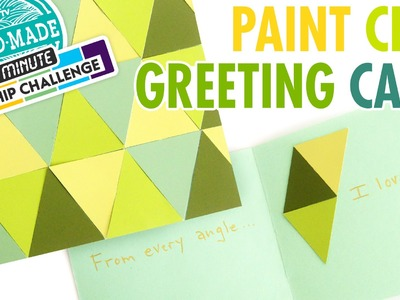DIY Paint Chip Greeting Card - Meg's 30 Minute Craft Challenge - HGTV Handmade