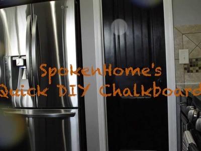 DIY | Quick Kitchen Chalkboard