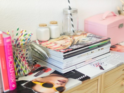 DIY Ripped Magazines Desktop [ROOM IDEAS]