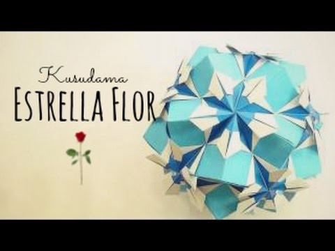 Estrella Flor (Erny) Origami Ball. Kusudama