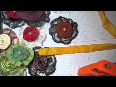 Fabric twisted flower tutorial