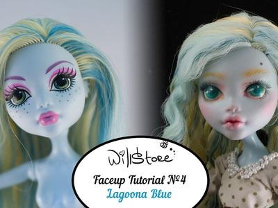 Faceup №4 Lagoona Blue OOAK Monster High Cutom doll repaint