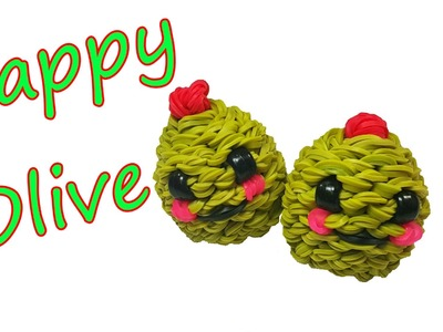 Happy Olive Tutorial by feelinspiffy (Rainbow Loom)