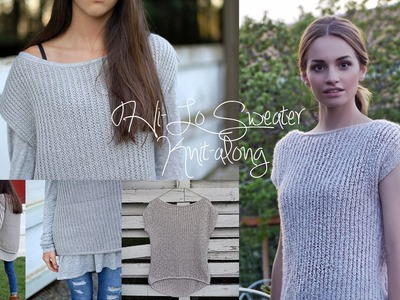 Hi-LO SHORT SLEEVED SWEATER KNIT-ALONG