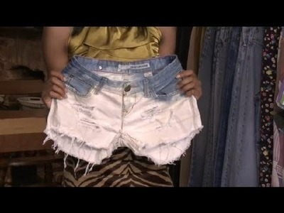 How Do I Distress Denim Shorts? : Fashion Advice