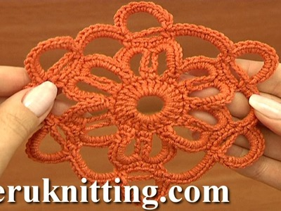 How to Crochet Motif Tutorial 11 Part 1 of 2