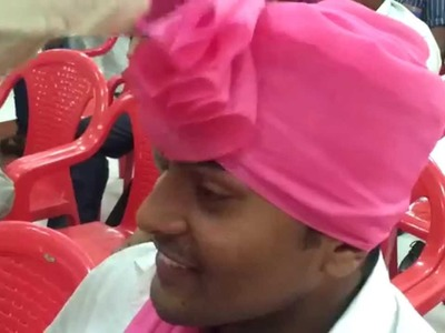 How to drape Marathi Pheta (Maharastrian Turban)