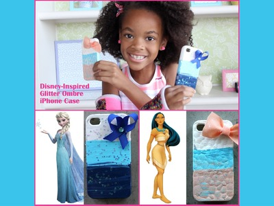 How to Make Disney Inspired Bow Glitter Ombre iPhone Case
