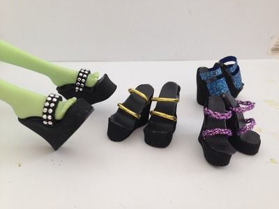 How to make Doll Shoes 4