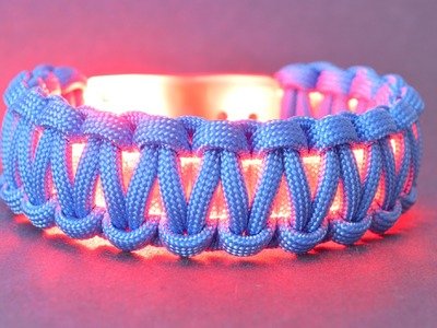 How to Wrap a Lightbanz or Flashbanz LED Bracelet with Paracord - BoredParacord