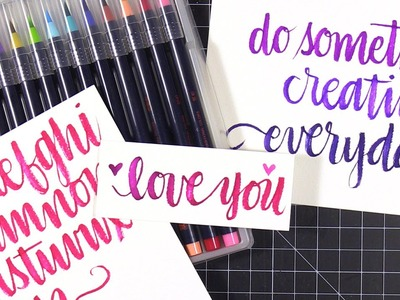 JetPens Haul - Akashiya Sai Watercolor Brush Pens