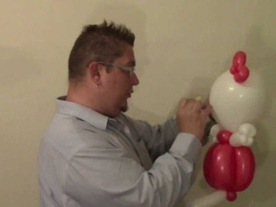 Jumbo Hello Kitty Balloon Animal | ChiTwist Chicago Balloon Twisting