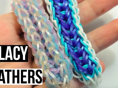 Lacy Feathers Bracelet | Rainbow Loom Tutorial | One Loom