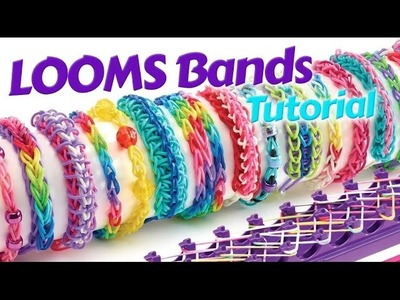 Loom Bands Instructions - How to make a loom bracelet Easy tutorial loom band fishtail with fingers