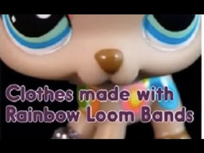 LPS DIY-Rainbow Loom Dress.Headband