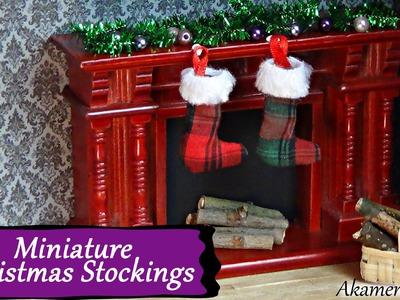 Miniature Christmas Stockings Tutorial