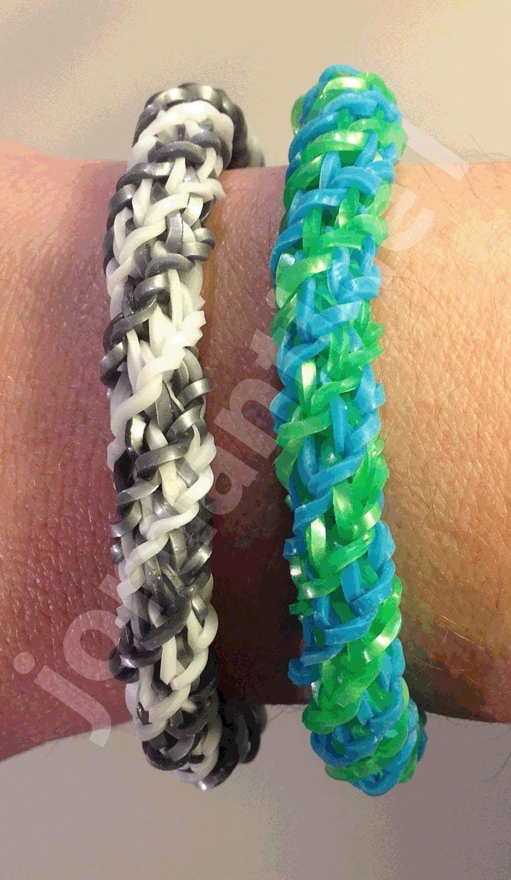 New Rainbow Loom Double Cross Fishtail Spiral Twist Bracelet