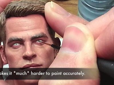 Painting a 1.6 Captain Kirk - Entire process - Part 8
