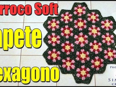 Passo a passoTAPETE-HEXAGONO- BARROCO-SOFT