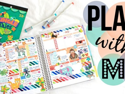 PLAN WITH ME | JUNGLE TALES THEMED