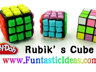 Play Doh Rubik's Cube How to withPlaydough