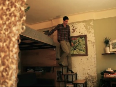 """Product designer turns 271sq ft into a """"tree house"""" apt - Tiny Eclectic Amazing Spaces video"""
